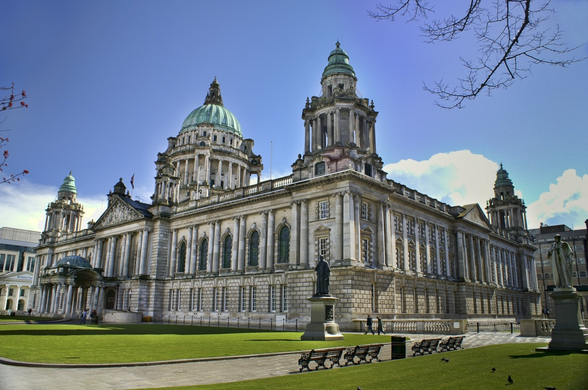 'Beautiful Picture of City Hall in Belfast Northern Ireland, with bright blue sky.' - Ireland