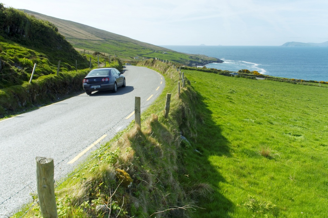 'Car on an Irish road at Beara' - Ireland