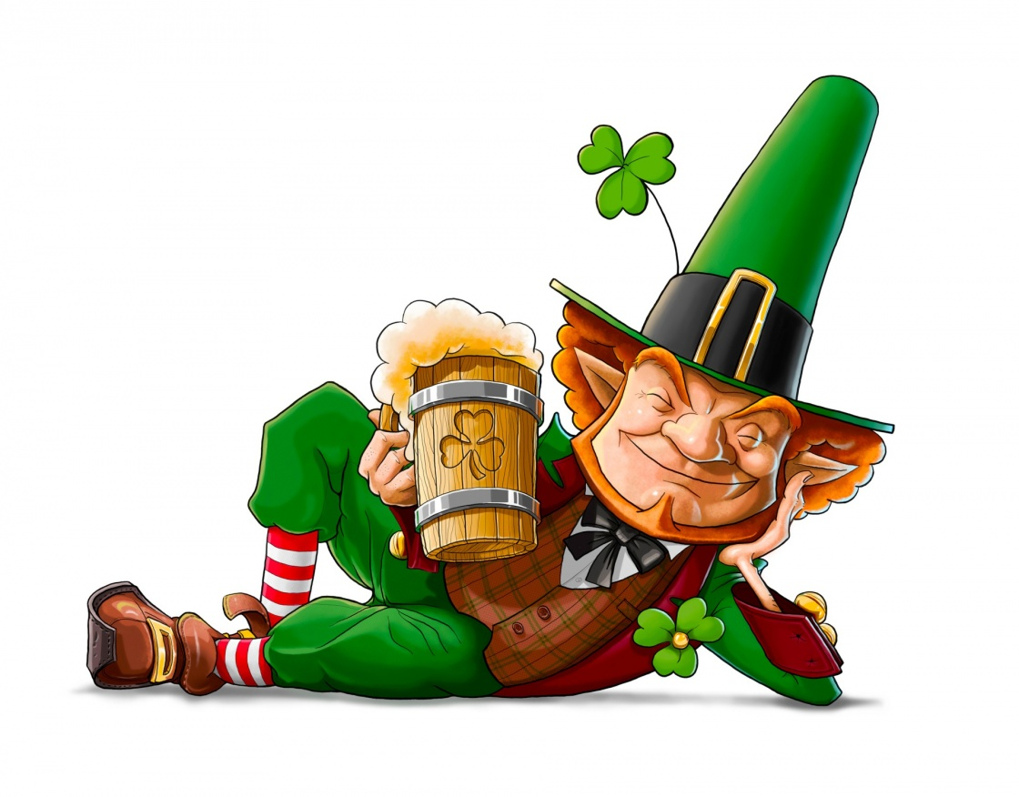 'elf leprechaun with beer for saint patrick's day' - Ireland